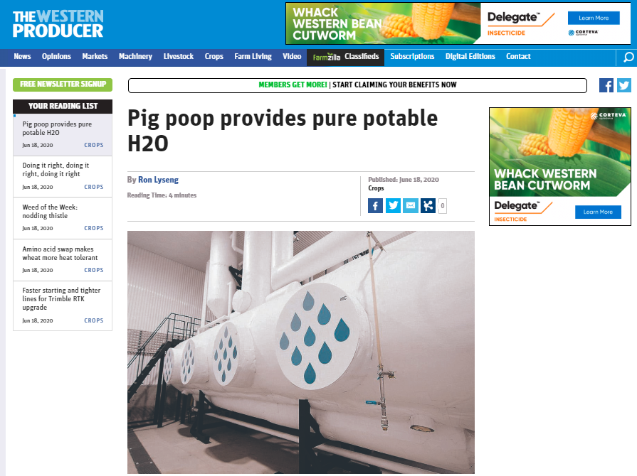 The Western Producer publishes an article on Solugen